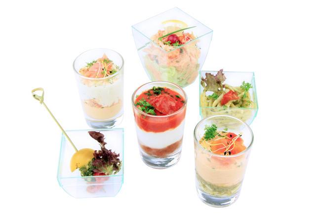 Een selectie van 5 mini-apero glaasjes