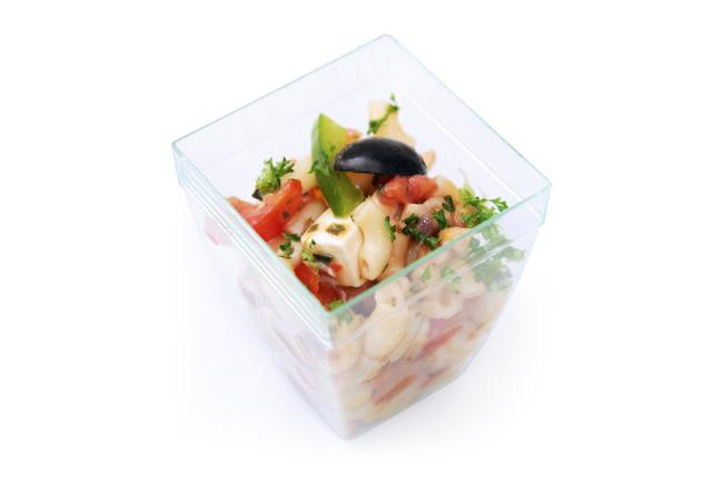 Mini-pasta met tonijn en feta