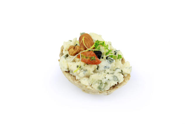 Roquefort Papillon met hazelnootjes