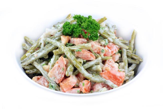 Boontjessalade met tomaat en spek