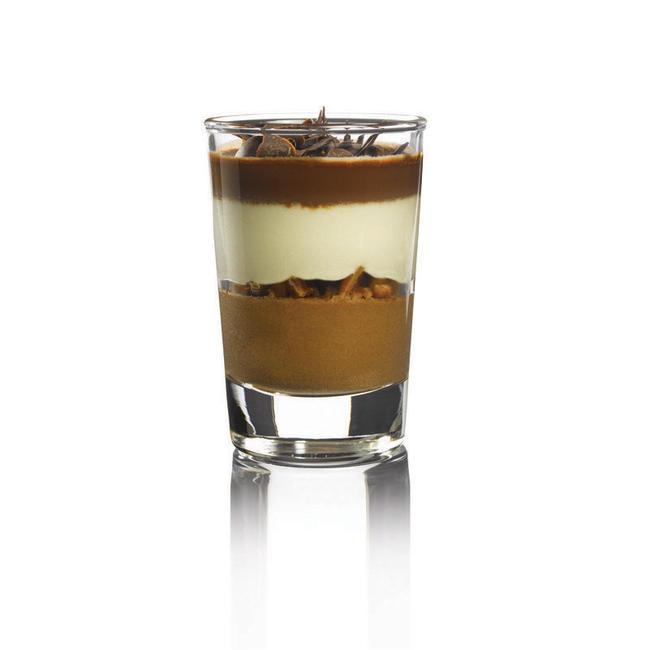 Mini-mousse van chocolade-karamel