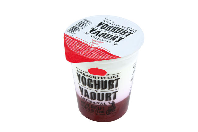 Yoghurt met aardbei