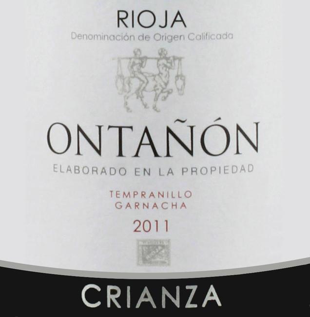 Rioja Ontanon Tinto Crianza 2012 37,5 cl