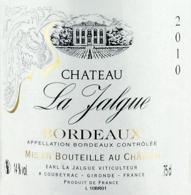 Bordeaux Chateau La Jalgue
