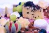 Feestelijke dessert kaasschotel
