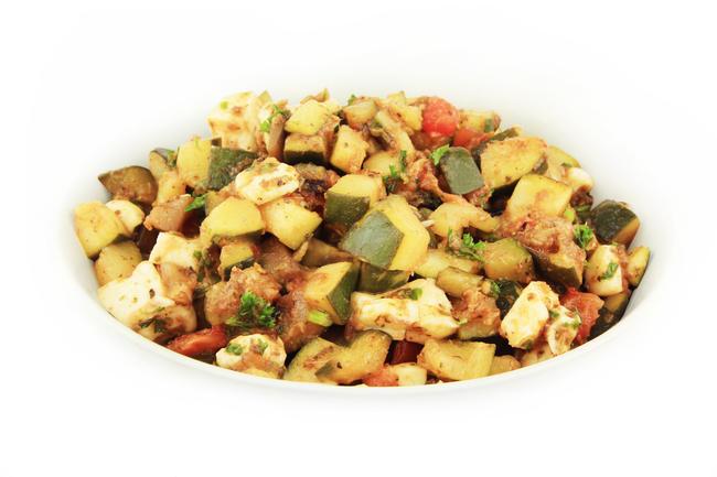Courgette-aubergine salade