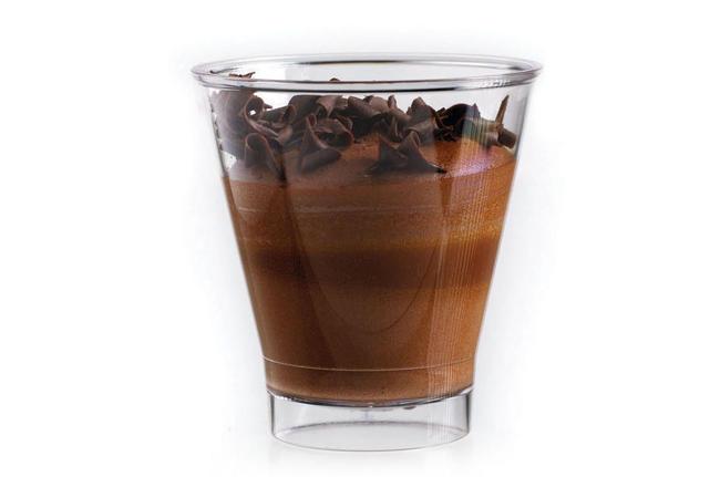 Mousse van chocolade-karamel