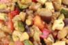 Gegrilde groentensalade met mozzerella