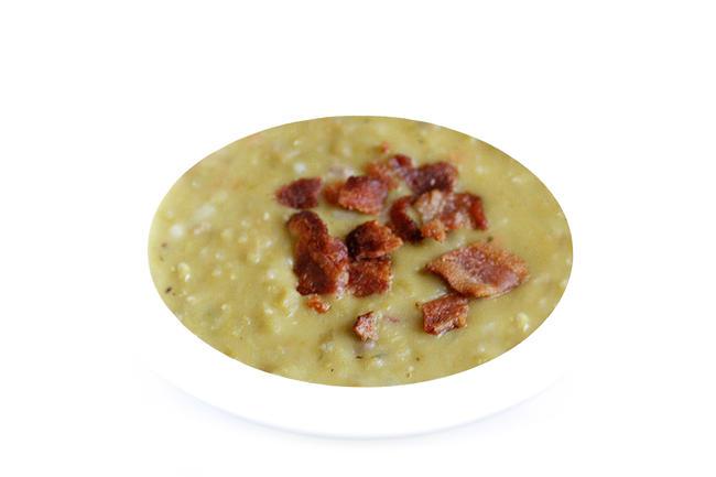 Linzen soep met spek en komijn