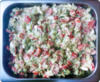 Avocado salade met ei en wasabi